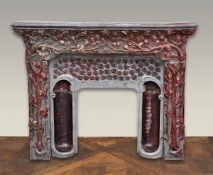 Каминный портал в стиле АРТ ДЕКО. ок.1930 г. Мрамор. 133/35/107 см.