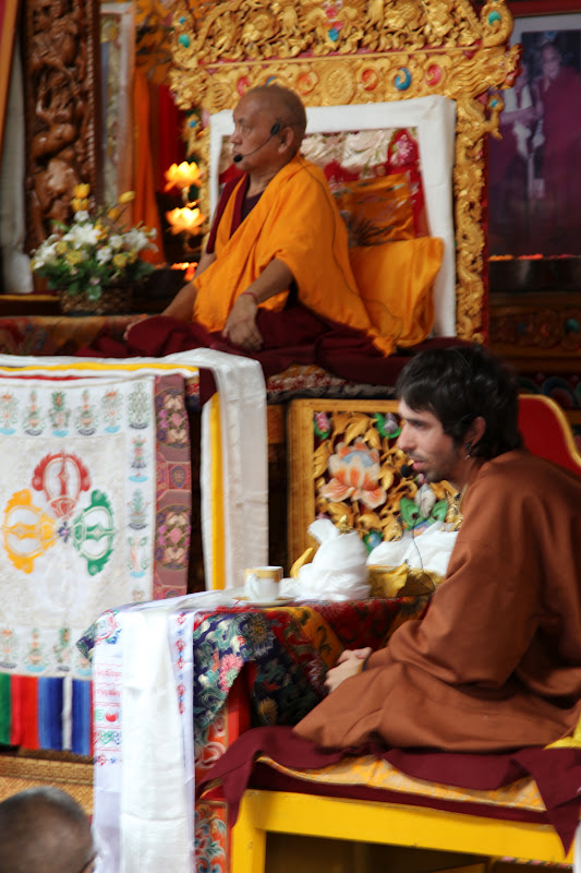 Lama Zopa Rinpoche attended Osel's talk to the monks at Kopan Monastery, July 2011