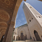 The mighty mosque was built by a French architect, who is a Christian
