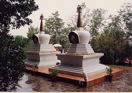 Stupas at Instituto Lama Tzong Khapa, Italy