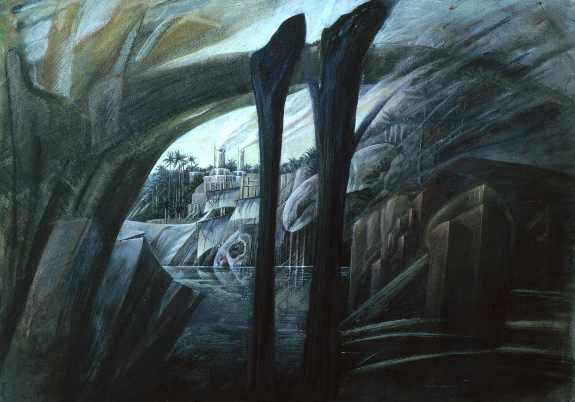 Bise   Aus dem Zyklus 'Die vier Winde'   1981   Pastell / Eitempera auf Tonpapier   65 x 80 cm