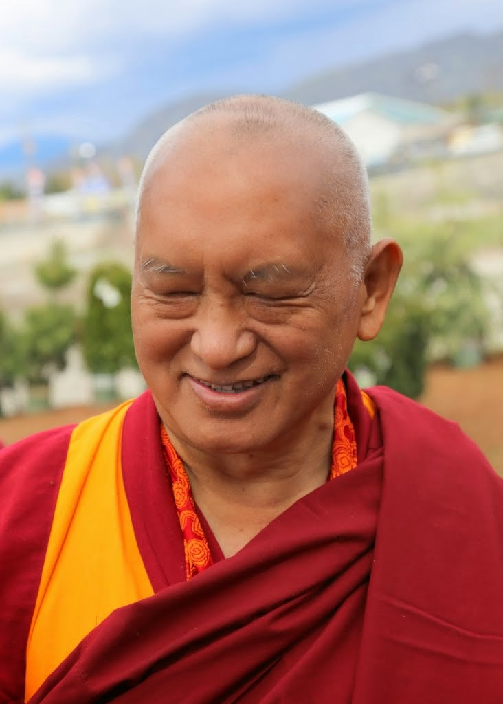Lama Zopa Rinpoche in northcentral Washington, US, April 2014. Photo by Ven. Thubten Kunsang.