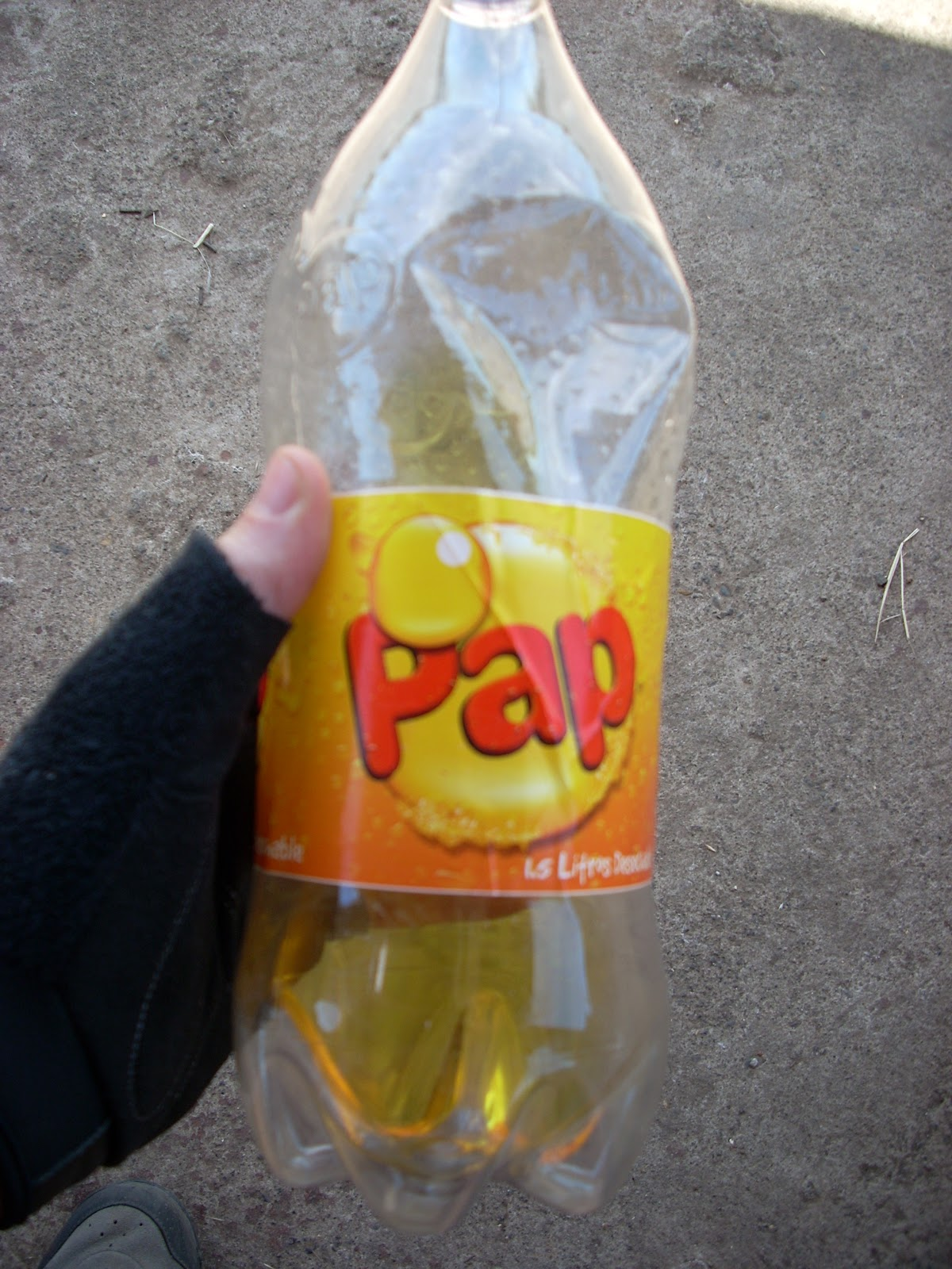 I used to be able to drink several litres a day of fluourescent soft drinks, but I seem to have lost my touch - it took me days to get through this bottle
