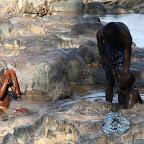 Washing in the falls