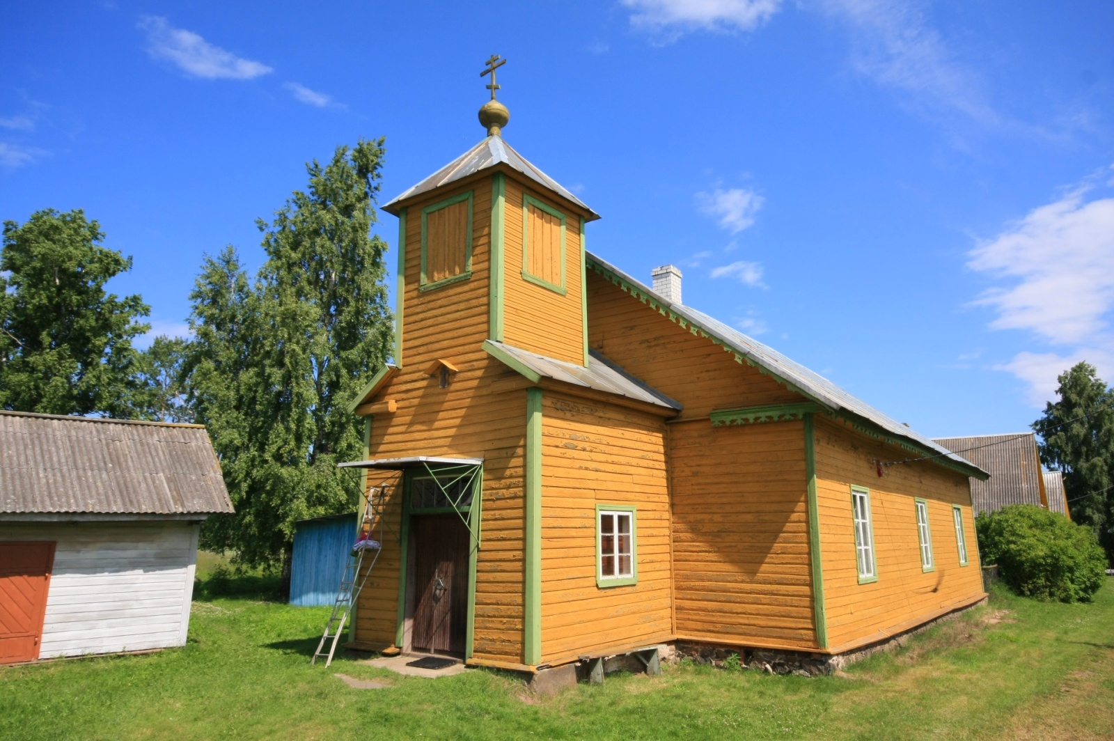 Currently functioning Old Believers' church in the Saare village (Ževaček)