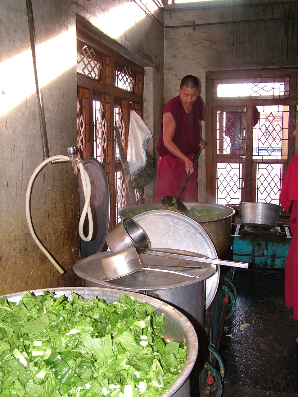 Food being cooked for the 2600 monks of Sera Je Monastery