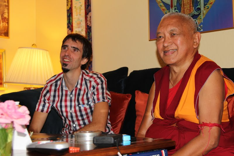 Osel with Rinpoche at Kachoe Dechen Ling