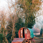 Traveller's caravan, near The George and Dragon, 1996