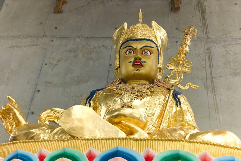 Guru Rinpoche statue at Great Stupa of Universal Compassion near Bendigo, Australia. Photo by George Manos. (Not built by the Padmasambhava Project.)