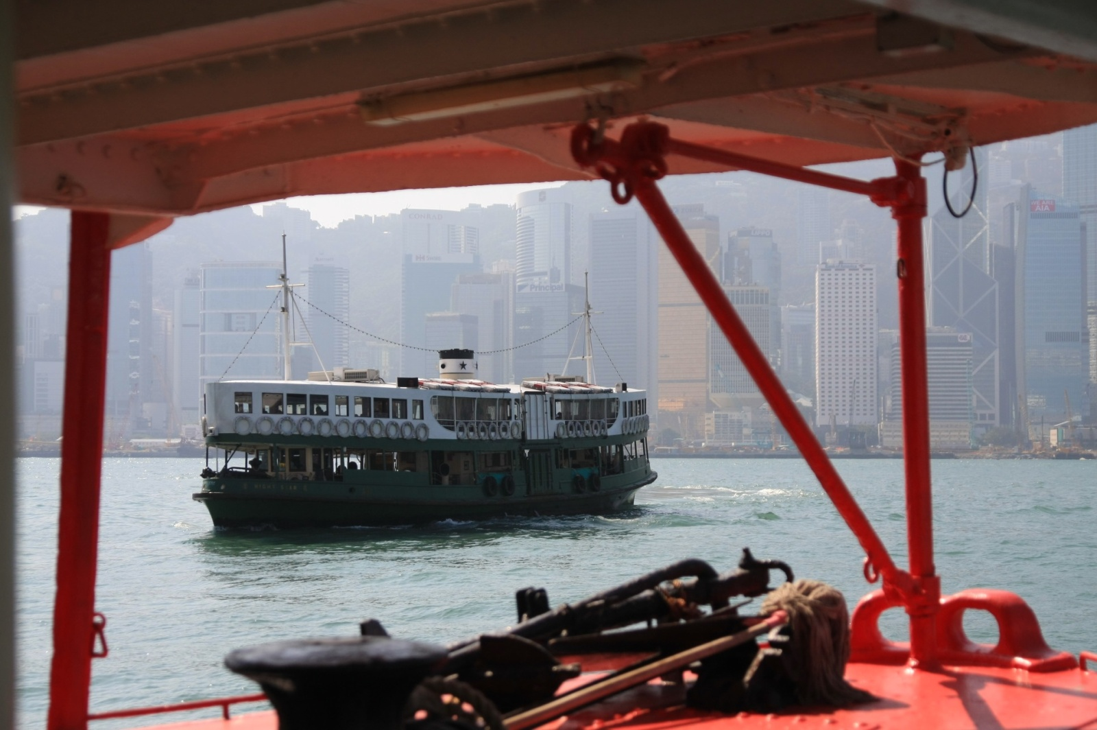 Aboard the Star Ferry