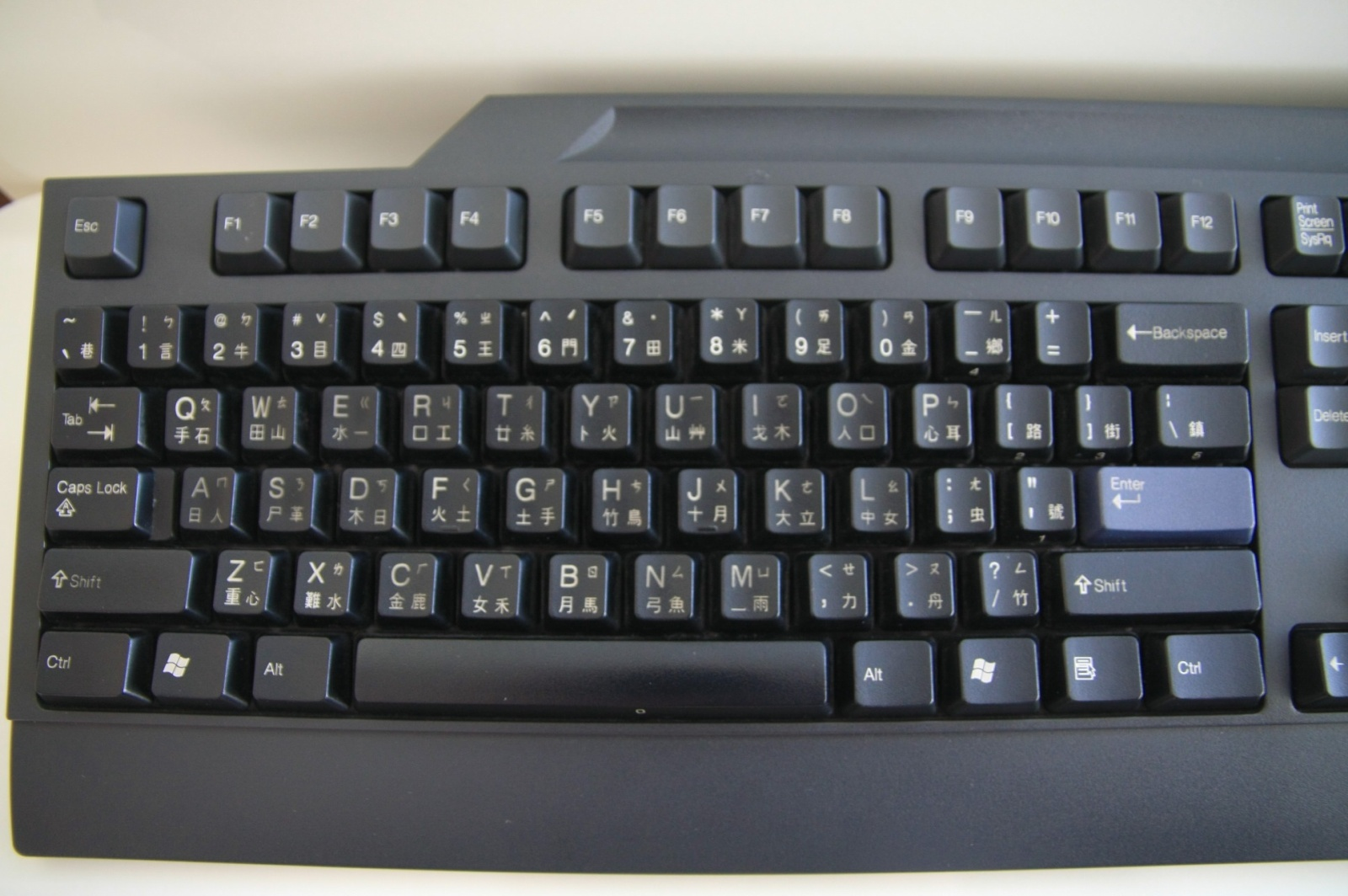Chinese phonetic keyboard - couldn't resist taking a picture :-)