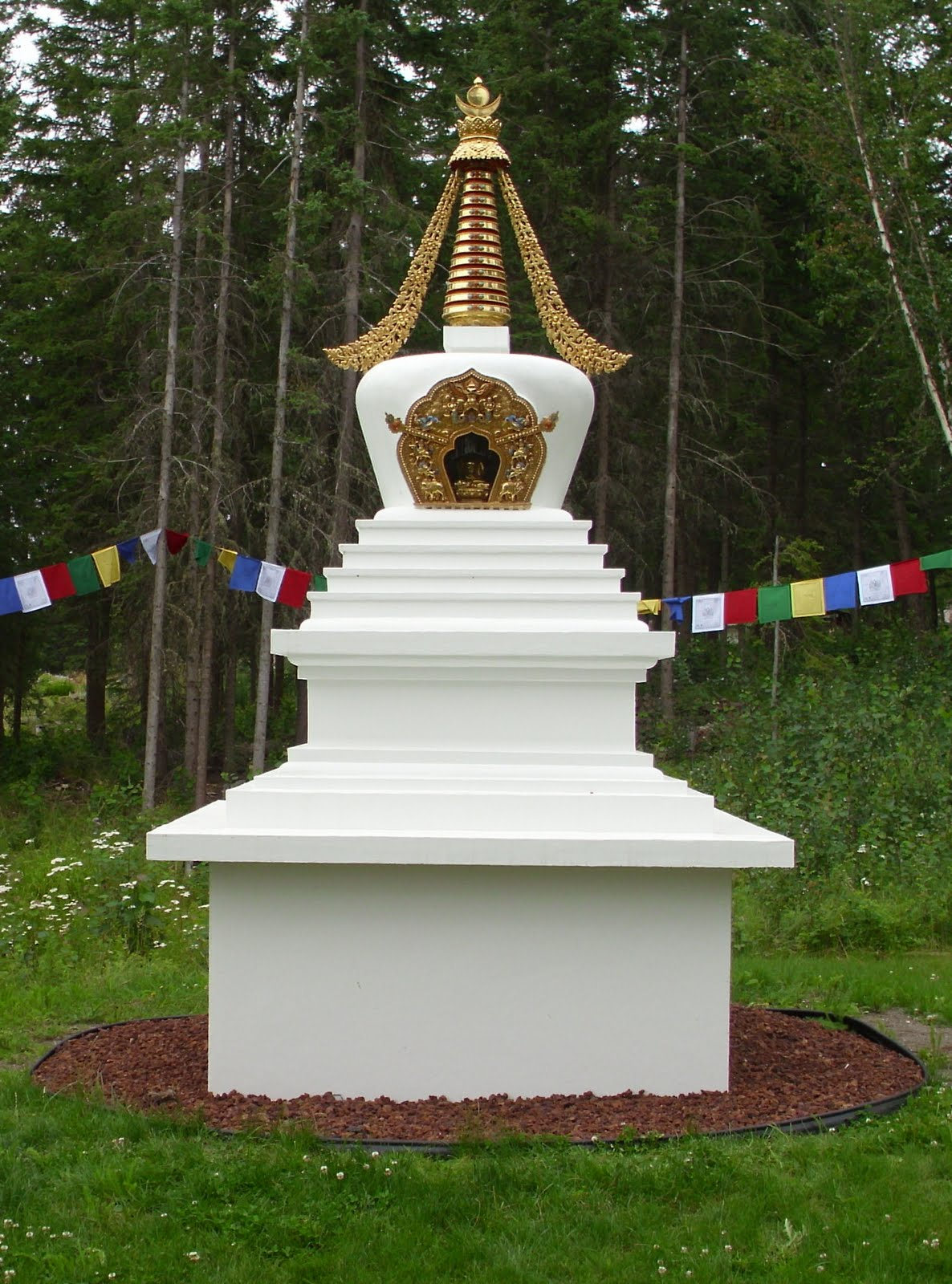 Enlightenment Stupa at Gendun Drubpa, British Columbia.