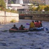 Raft + gumová kánoe v centru Karlových Varů