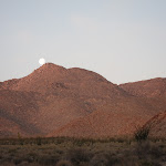 Moon Set behind Sombrero Peak