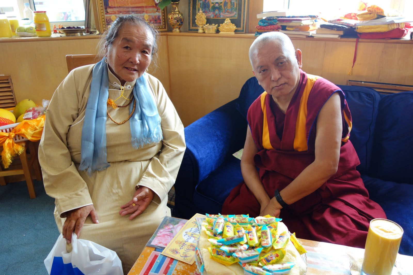 The mother of Rinpoche's Mongolian doctor who treated Rinpoche in Mongolia September 2013. Photo: Ven. Roger Kunsang