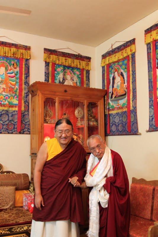 His Holiness the Sakya Trizin and Lama Zopa Rinpoche