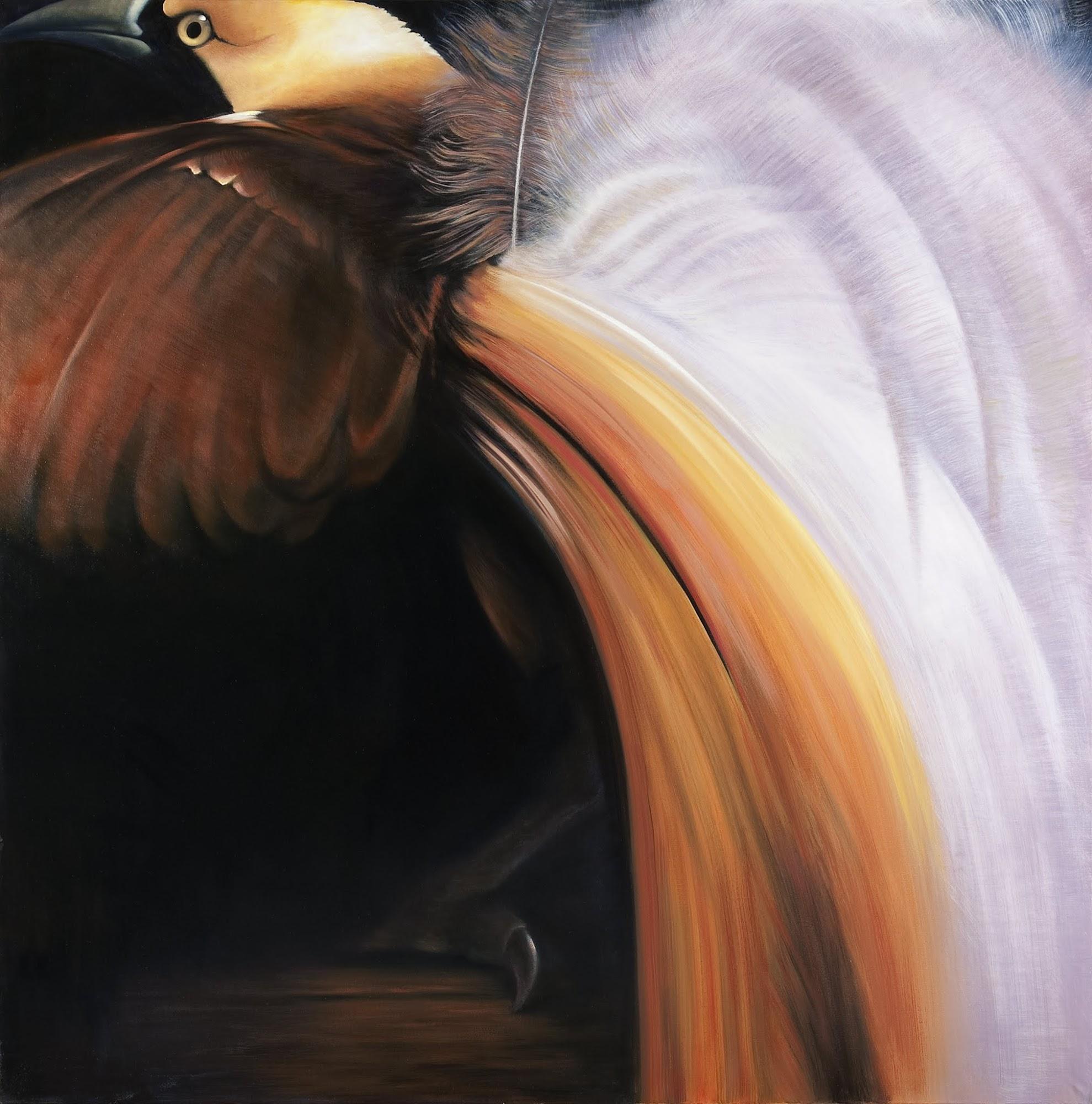 Augenblick im Paradies   2009   Oel auf Leinwand   170 x 170 cm