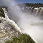 Garganta del diablo is huge, Brazil is where the fog is