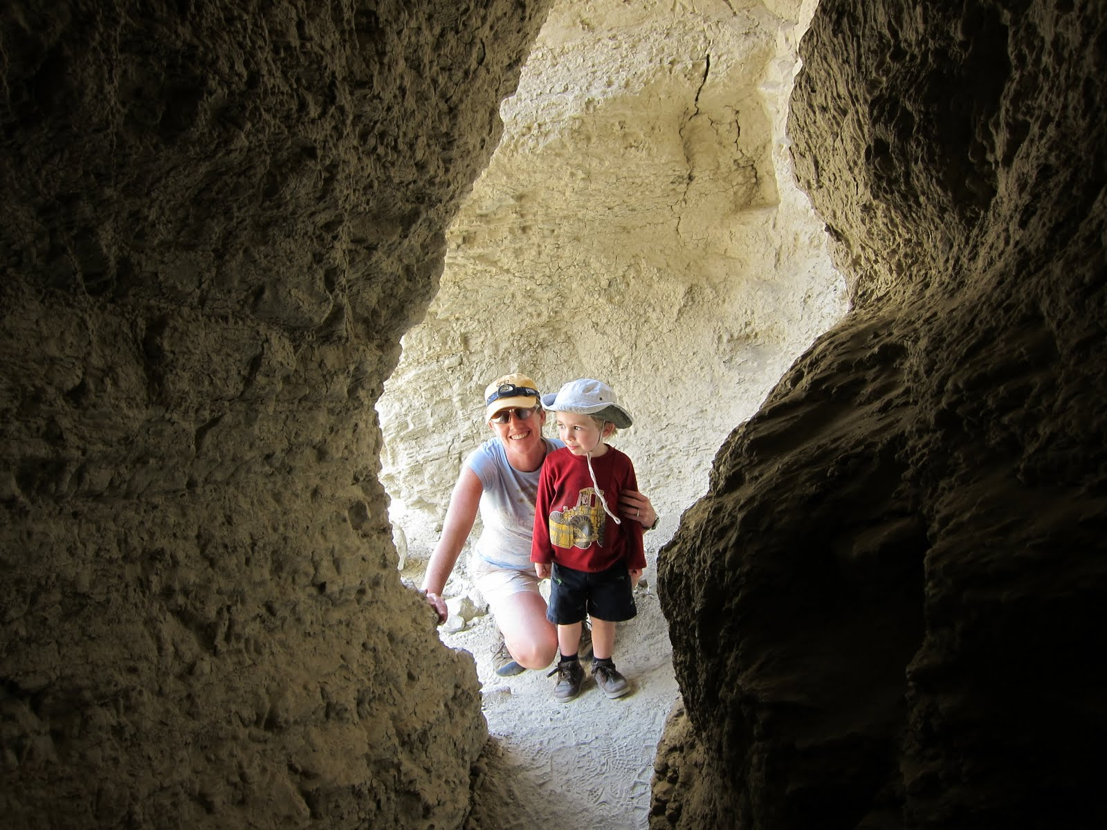 Mary and Austin at the entrance to Plunge Pool Cave