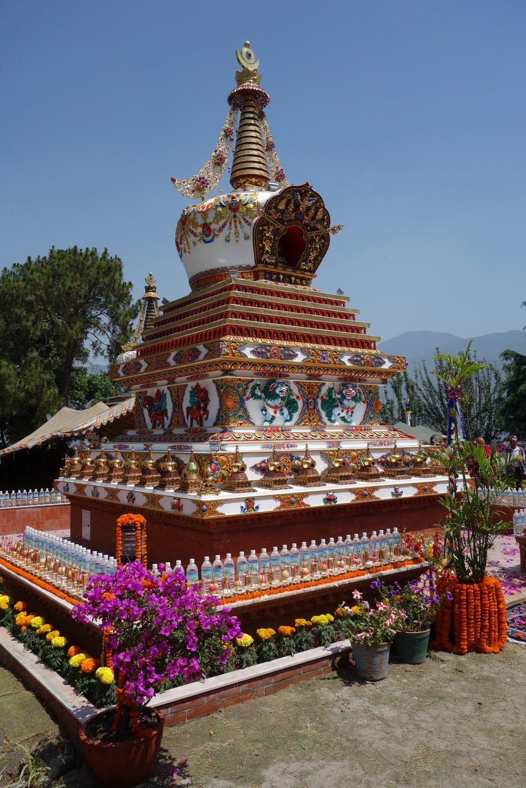 Khensur Lama Lhundrup stupa's consecration at Kopan Monastery, May 3, 2013. Photo by Ven. Roger Kunsang.