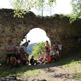 Účastníci prodlouženého puťáku na hradě Zbořený Kostelec