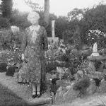 Garden at Windyridge (now Orchard Lodge) Miss J A Wheatley in foreground circa 1933