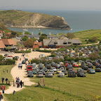 Lulworth Cove is popular among locals, especially if weather is good