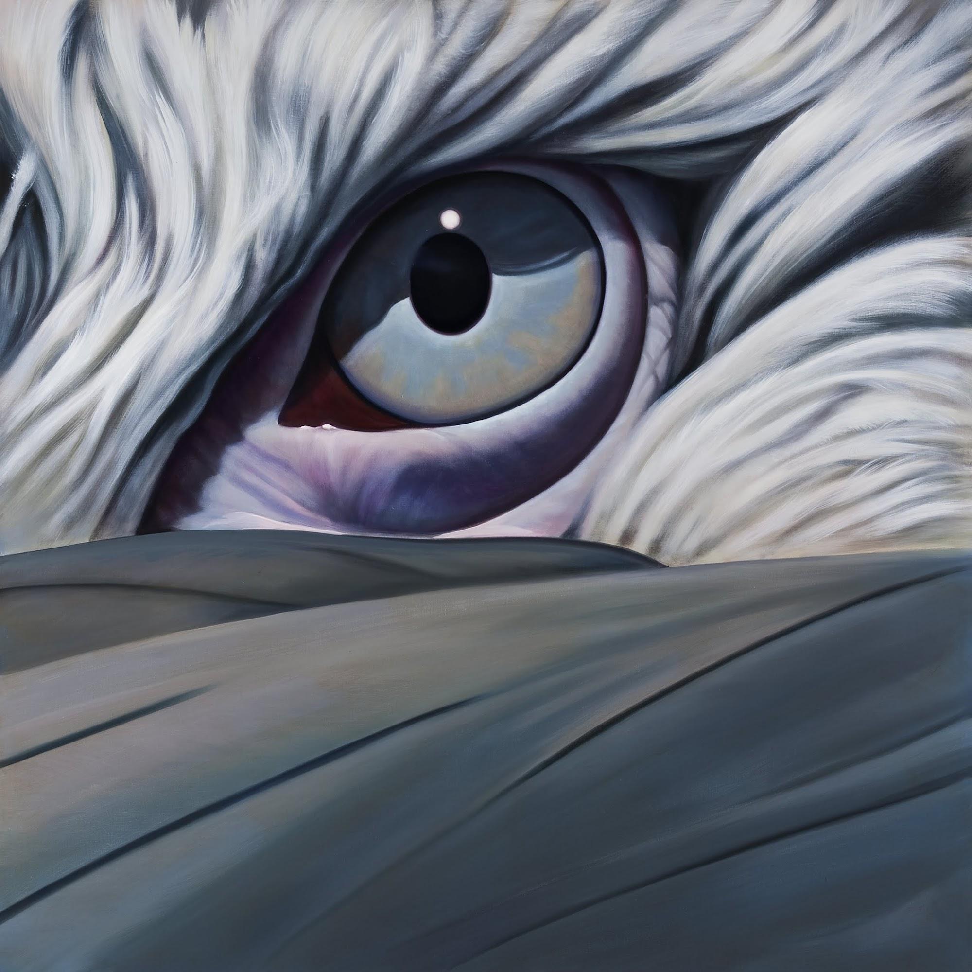 Blick der Klarheit   2009   Oel auf Leinwand   170 x 170 cm