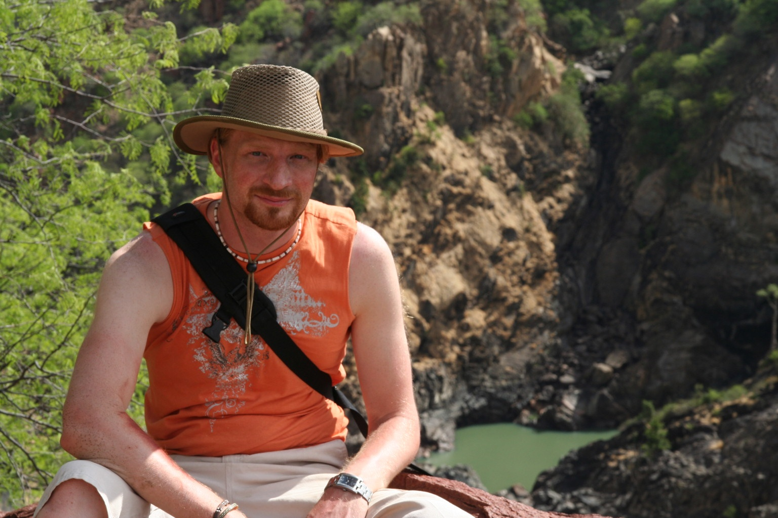 Taking rest above Ruacana falls