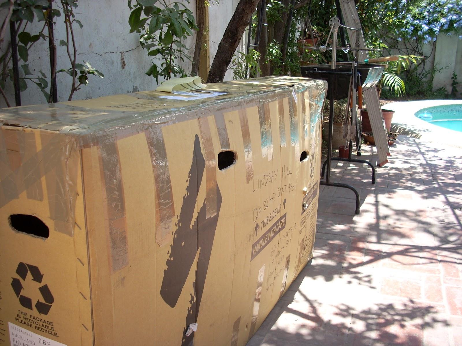 Bike in box at Santiago