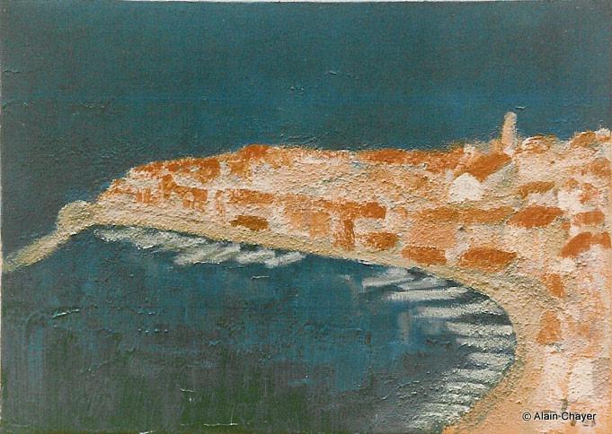 016 - Saint-Tropez - Le Port - 1992 46 x 33 - Acrylique sur toile