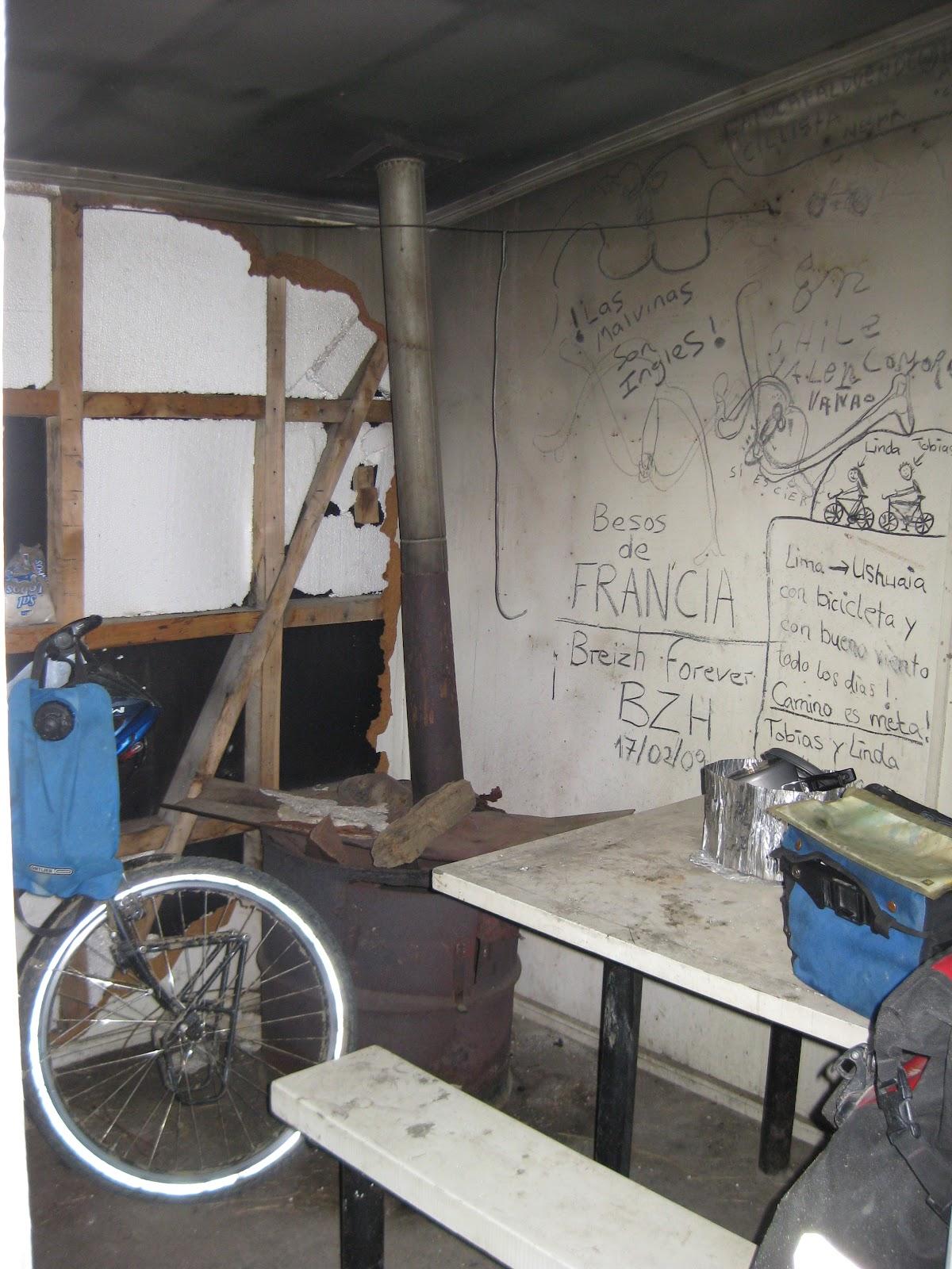 Cyclist graffiti