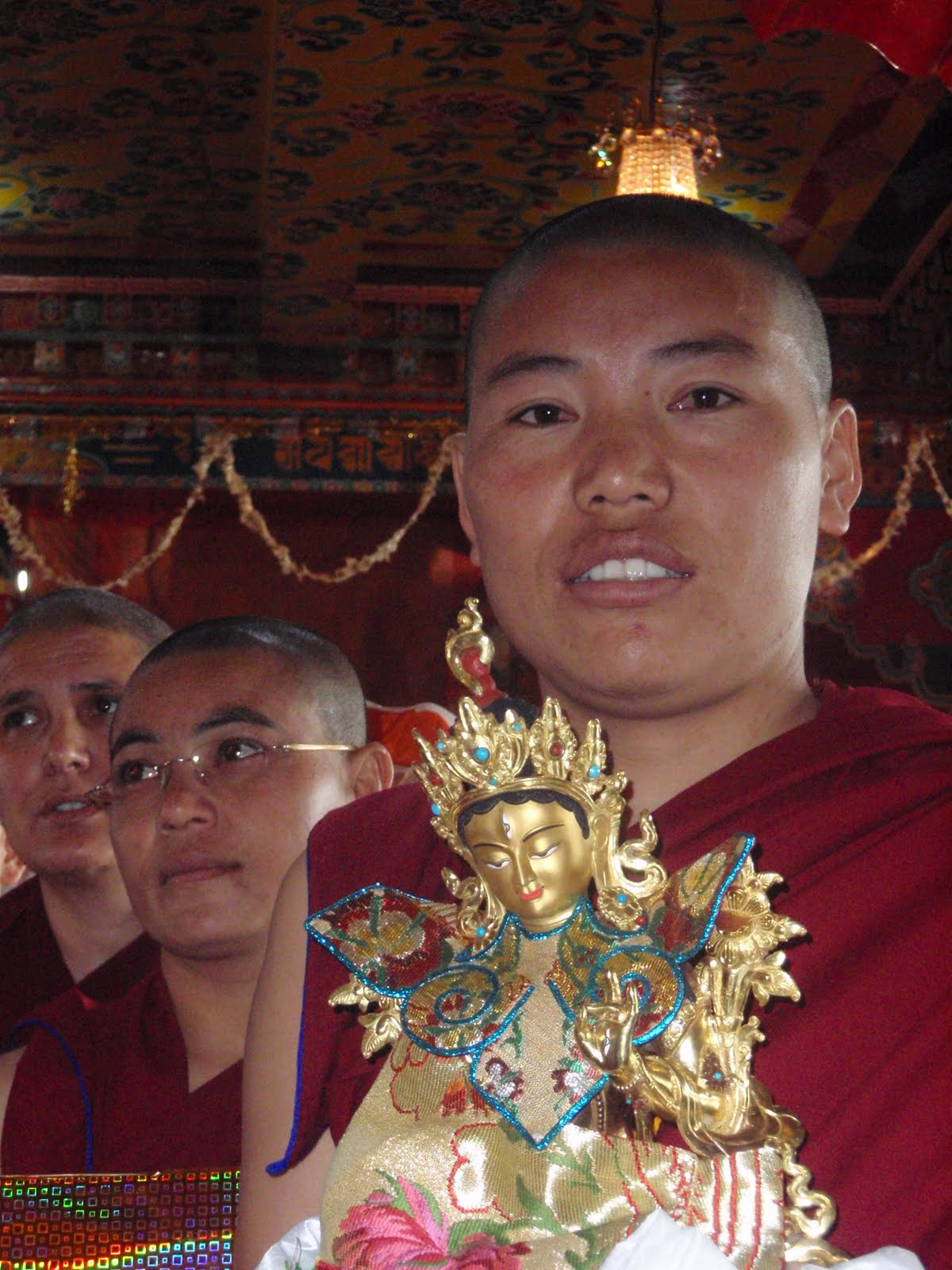 Nuns during long life puja at Kopan Monastery 2008