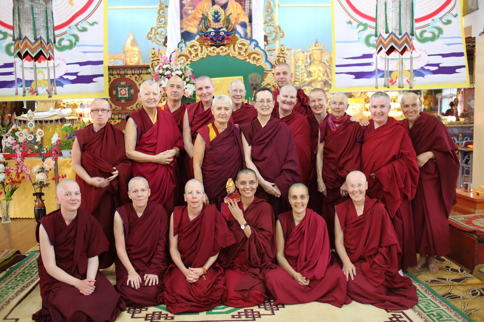 Some of the sangha doing the 100 Million Mani Retreat in Mongolia. August 2013.