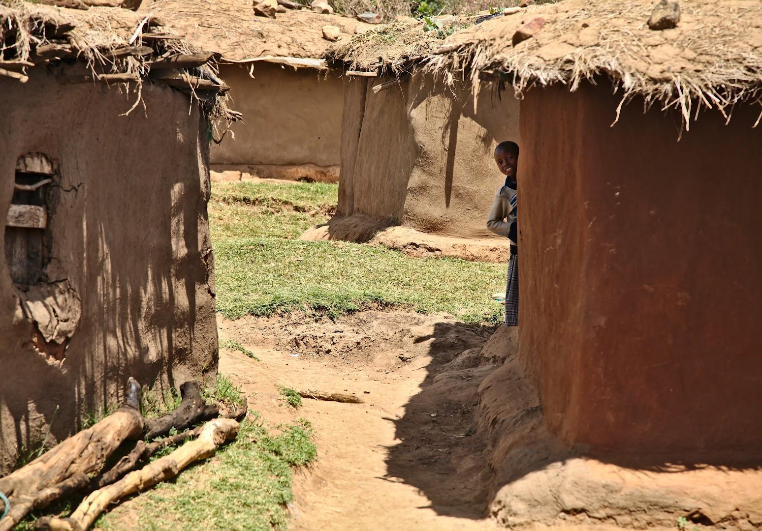 In Masai village