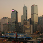 Part of the skyline, with Bank Of China in the middle