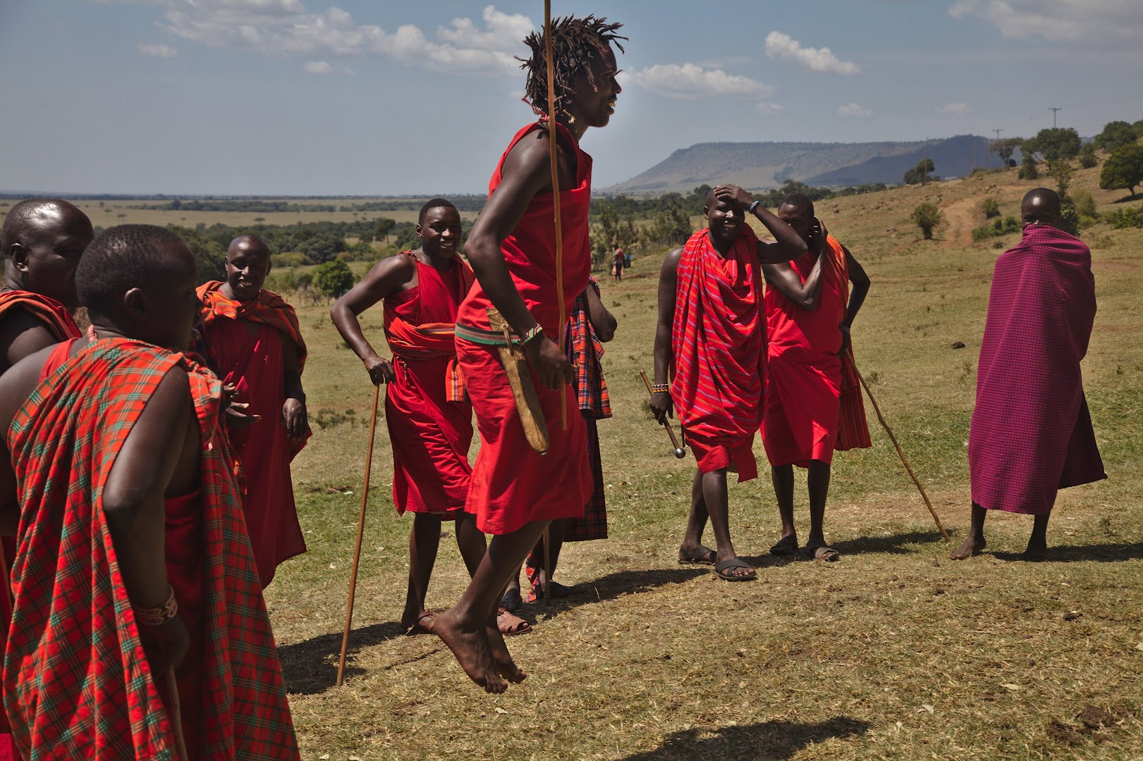 Traditional Masai jumping-dance