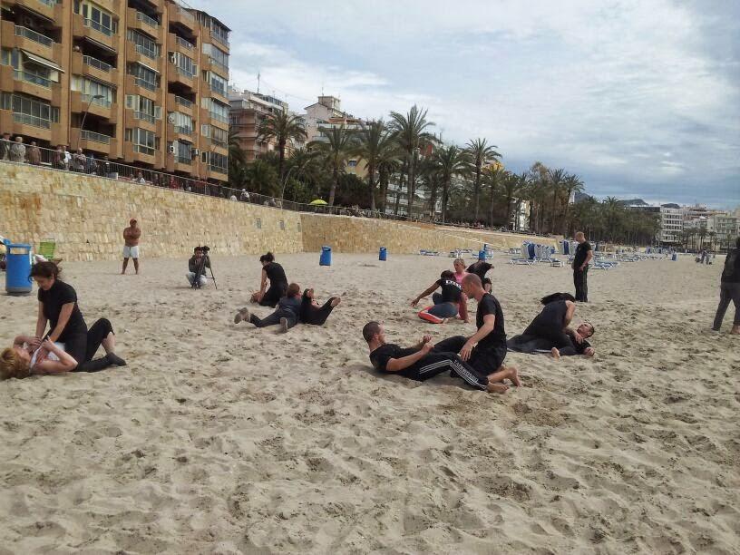 Fin de semana de entrenamiento en la Playa de Levante de Benidorm
