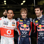 Top 3 qualifiers: 1. Vettel 2. Hamilton 3. Webber