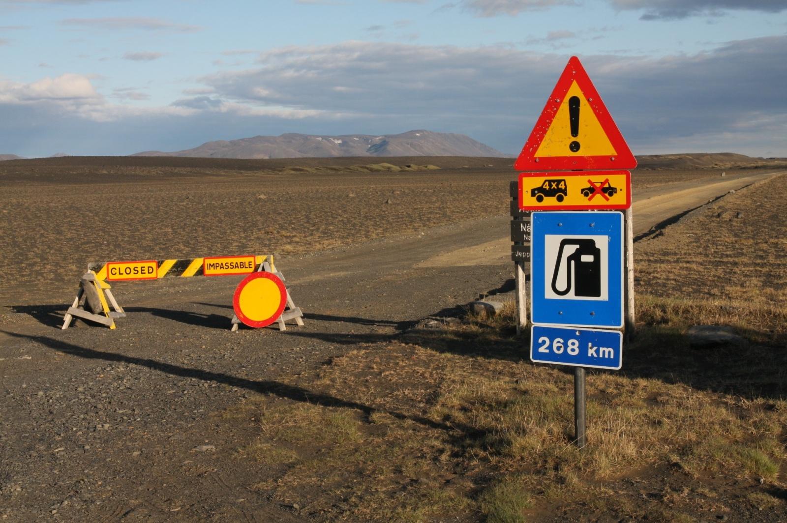 Road to Askja is unfortunately still closed