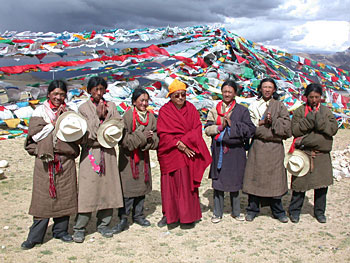 Lama Zopa with Tibetans