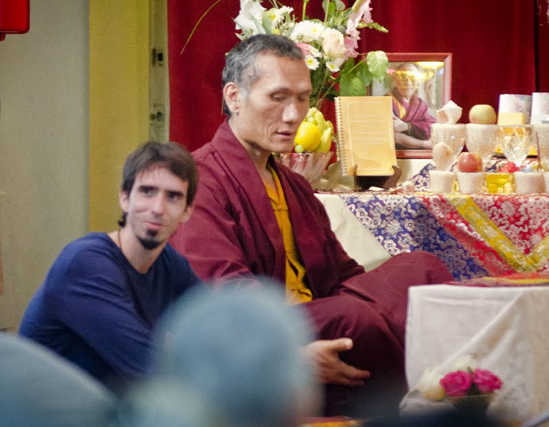 Osel and Yangsi Rinpoche at Vajrasattva initiation, Boulder Creek, CA