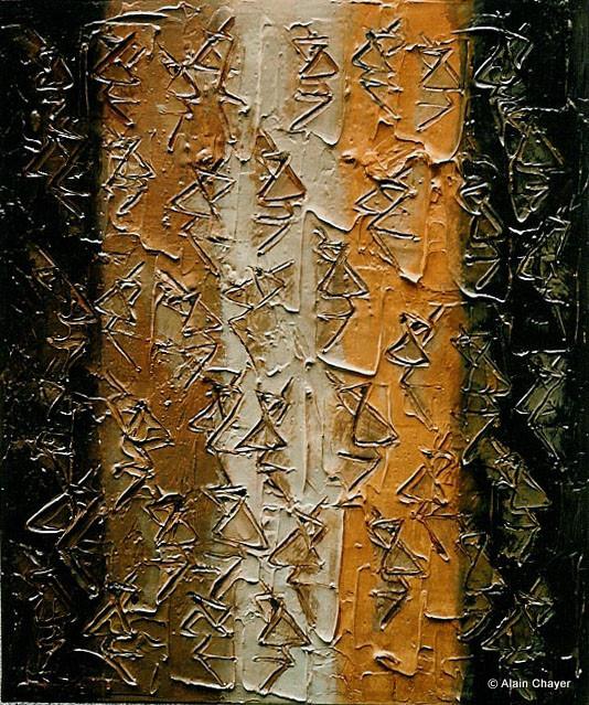 032 - Visages - 1993 55 x 46 - Acrylique sur toile