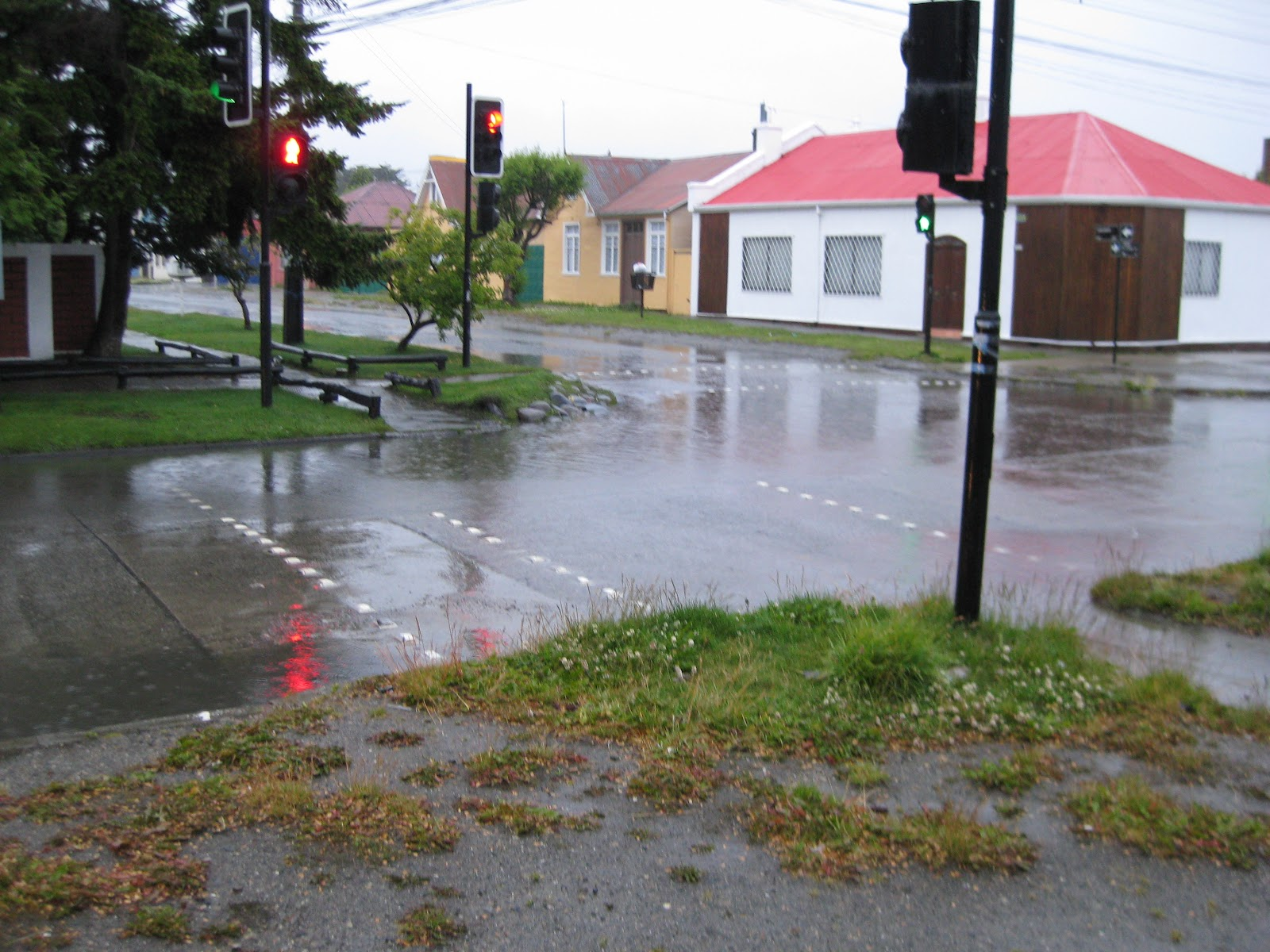 No stormwater drains, in spite of the rain