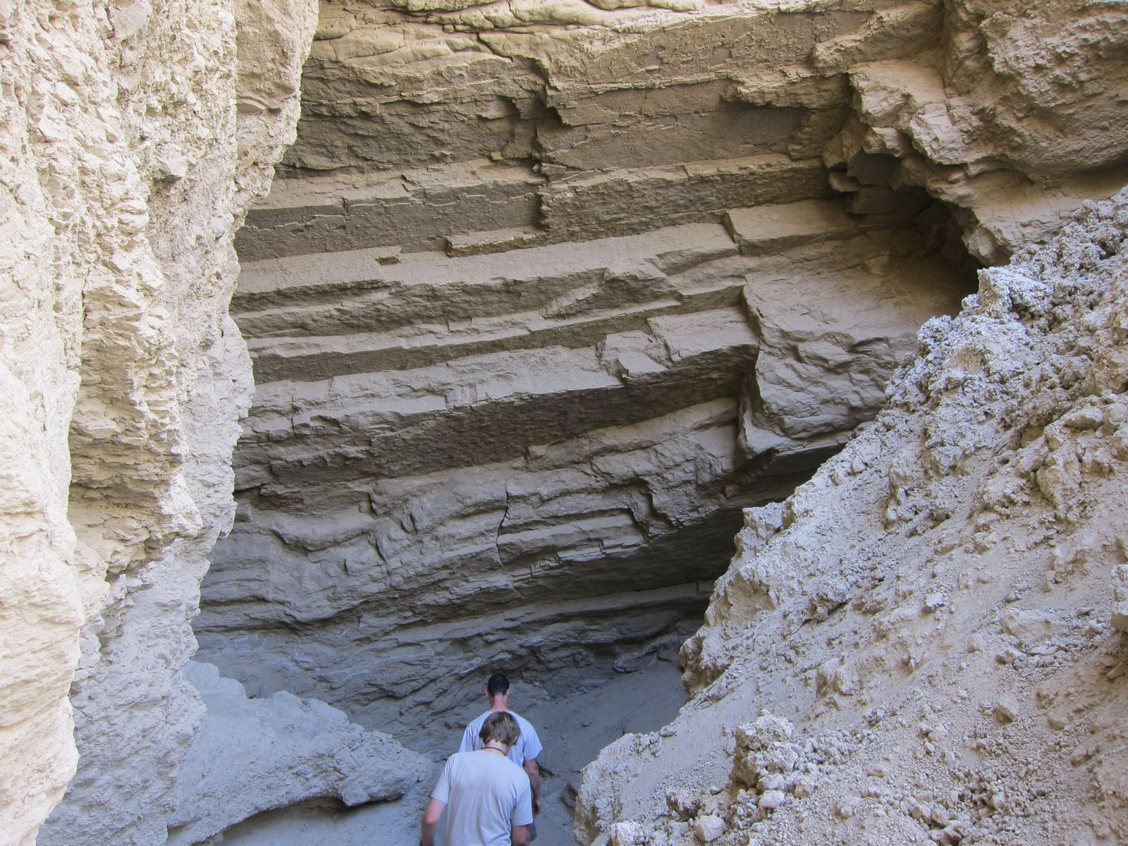 Mark and Andrew head into the slot canyon