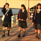 Chinese schoolgirls seem to have some Scottish influence