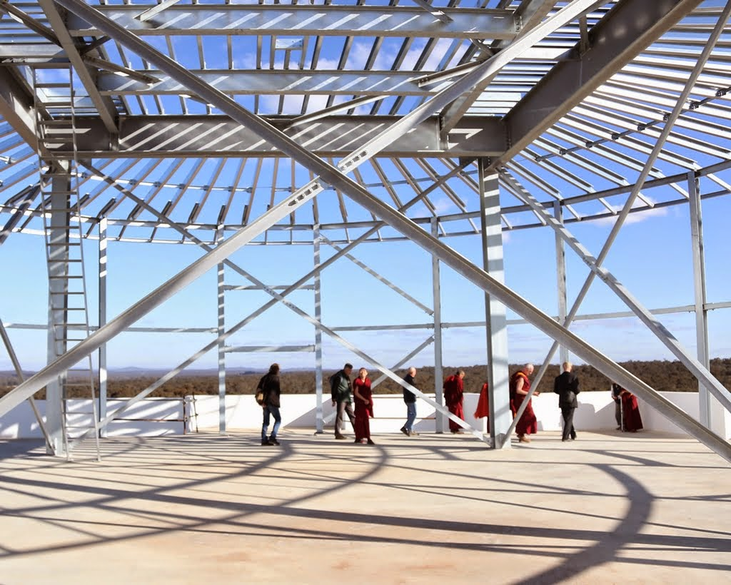 The top level of the Great Stupa of Universal Compassion, Australia, September 2014. Photo by Ven. Thubten Kunsang.
