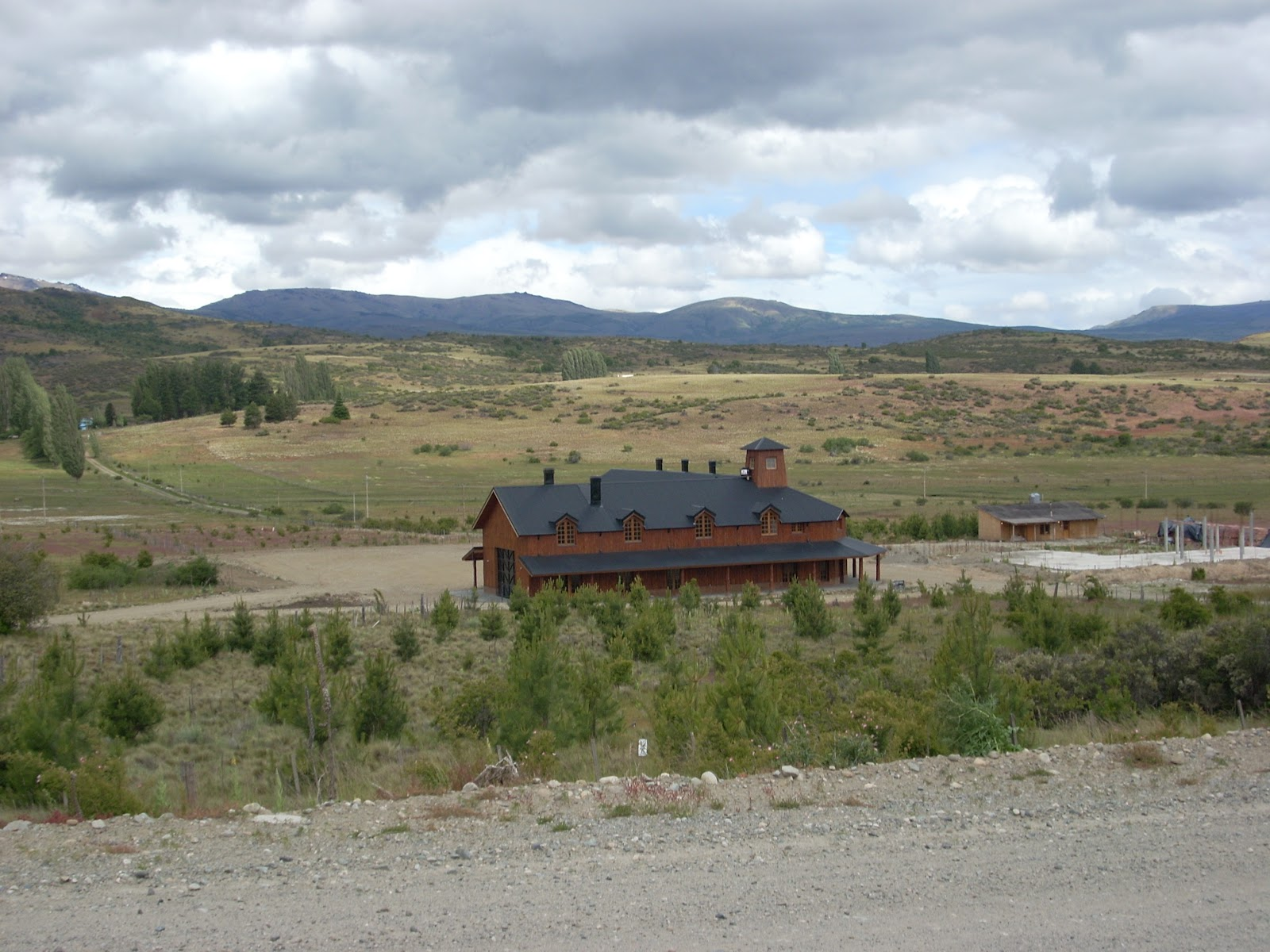 Random large house in the middle of nowhere. Someone has money.
