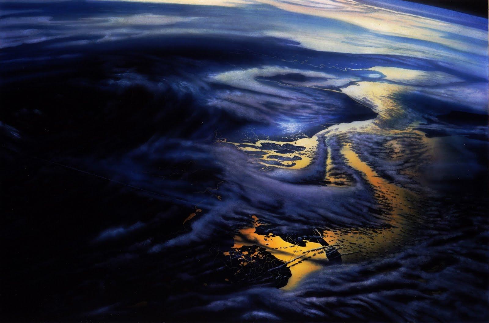Grosser Abend   2002   Aquarell   100 x 150 cm