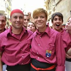 Actuació Diada Castellers de Lleida a Paeria  26-10-13